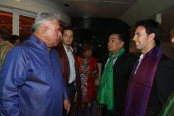 (L to R): Dr. Vijay Mallya, Sahara Force India F1 Team Owner with Sergio Perez, Sahara Force India F