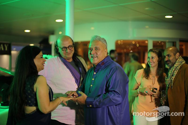 Dr. Vijay Mallya, Sahara Force India F1 Takım Sahibi ve misafirleri Monaco'da partide