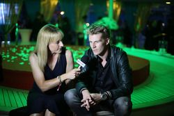 Nico Hulkenberg, Sahara Force India F1 with Rachel Brookes, Sky Sports F1 Reporter at the Signature