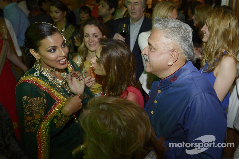 Dr. Vijay Mallya, Sahara Force India F1 Team Owner with guests at the Signature Monaco Party on the