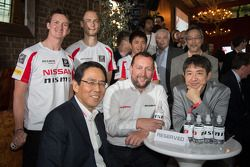 ACO President Pierre Fillon with Nissan Chief Planning Office & Executive Vice-President, Andy Palmer, NISMO President Shoichi Miyatani and NISMO Global Head of Brand, Marketing & Sales, Darren Cox