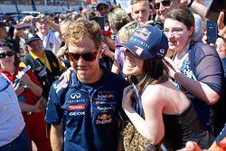 Sebastian Vettel, Red Bull Racing with fans