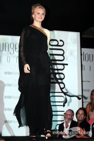 Emilia Pikkarainen, Swimmer, girlfriend of Valtteri Bottas, Williams, at the Amber Lounge Fashion Sh