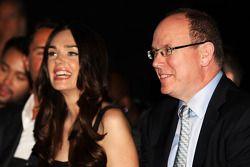 HSH Prince Albert of Monaco, with Tamara Ecclestone, at the Amber Lounge Fashion Show