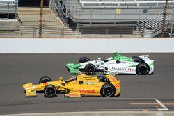Ryan Hunter-Reay, Andretti Autosport Honda et Carlos Munoz, Andretti Autosport Honda