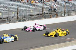 Pippa Mann e Helio Castroneves, Penske Racing Chevrolet