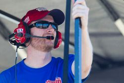 Dale Earnhardt Jr. watches from pitlane