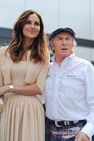 Tasha de Vasconcelos, modelo y actriz con Jackie Stewart