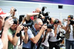 Fotógrafos no paddock