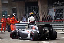 Адриан Сутиль. ГП Монако, Воскресная гонка.