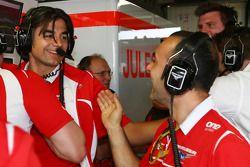 Francesco Nenci, Marussia F1 Team ,Ingegnere di pista e Marussia F1 Team festeggiano Jules Bianchi che ottiene i primi punti in formula 1