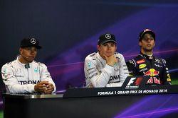 Conferenza stampa della FIA post gara: Lewis Hamilton, Mercedes AMG F1, secondo; Nico Rosberg, Mercedes AMG F1, vincitore della gara; Daniel Ricciardo, Red Bull Racing, terzo