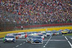 Start: Jimmie Johnson, Hendrick Motorsports Chevrolet leidt