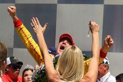 Ryan Hunter-Reay, Andretti Autosport Honda celebrates