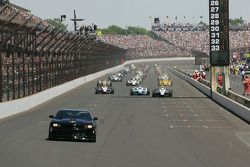 The pace car leads the field before the 98th Running of the Indianapolis 500