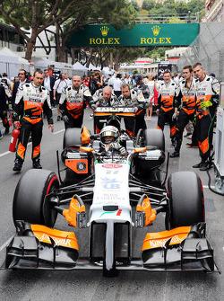 Startaufstellung: Sergio Perez, Sahara Force India F1 VJM07