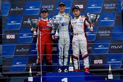 Podium: race winner Marvin Kirchhofer, second place Martin Cao, third place Peter Li Zhi Cong