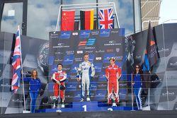 Podium: race winner Marvin Kirchhofer, second place Martin Cao, third place Matt Rao