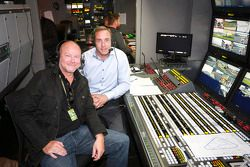 TV moderators Jack Schulz, Patrick Simon