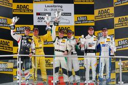 Gentlemens podium: winners Herbert Handlos, Alfred Renauer, second place Toni Seiler, Jeroen Bleekemolen, third place Lennart Marioneck, Remo Lips