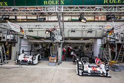L'area pit stop del Team Porsche