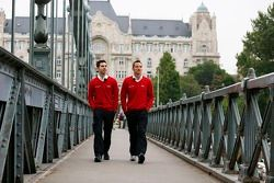 Timo Scheider et Miguel Molina en Hongrie