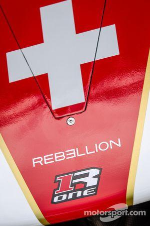 Dettaglio del muso della Rebellion R-One – Toyota del team Rebellion Racing