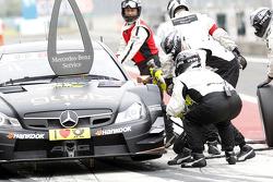 Boxenstopp, Pascal Wehrlein, Mercedes AMG DTM-Team HWA, DTM Mercedes AMG C-CoupÈ