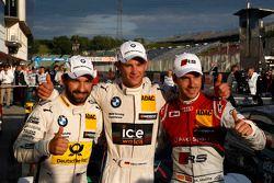 Pole position Marco Wittmann, BMW Team RMG BMW M4 DTM, 2ème Timo Glock, BMW Team MTEK BMW M3 DTM, et 3ème Miguel Molina, Audi Sport Team Abt Audi RS 5 DTM