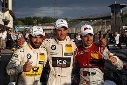 1. Marco Wittmann, BMW Team RMG, BMW M4 DTM, 2. Timo Glock, BMW Team MTEK, BMW M3 DTM, 3. Miguel Mol