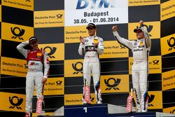 Podium, 2. Miguel Molina, Audi Sport Team Abt, Audi RS 5 DTM, 1. Marco Wittmann, BMW Team RMG, BMW M