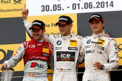 Podium: 2ème Miguel Molina, Audi Sport Team Abt Audi RS 5 DTM, 1er Marco Wittmann, BMW Team RMG BMW