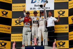 Podium, 2nd Miguel Molina, Audi Sport Team Abt Audi RS 5 DTM, 1st Marco Wittmann, BMW Team RMG BMW