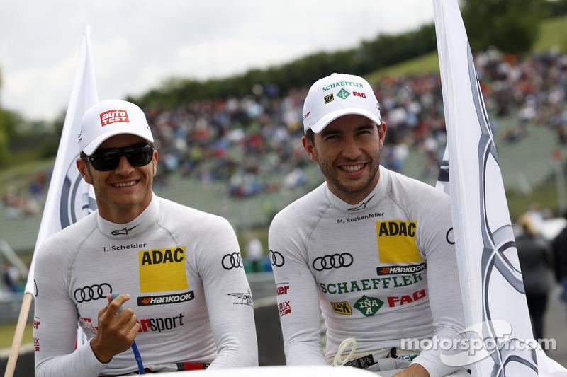 Timo Scheider, Audi Sport Team Phoenix Audi RS 5 DTM e Mike Rockenfeller, Audi Sport Team Phoenix Audi RS 5 DTM