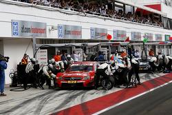 Vitaly Petrov, Mercedes AMG DTM-Team Mücke, DTM Mercedes AMG C-Coupe, und Christian Vietoris, Mercedes AMG DTM-Team HWA, DTM Mercedes AMG C-Coupe
