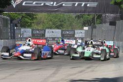Ryan Briscoe, KV Racing Technology Chevrolet Sébastien Bourdais, KV Racing Technology Chevrolet