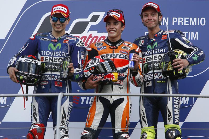 #12 Podium : Marc Márquez, Jorge Lorenzo, Valentino Rossi