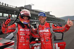 Race winners Tsugio Matsuda and Ronnie Quintarelli
