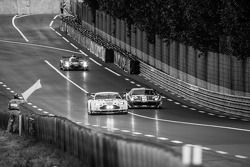 #95 Aston Martin Racing Aston Martin Vantage V8: Kristian Poulsen, David Heinemeier Hansson, Nicki Thiim and #51 AF Corse Ferrari 458 Italia: Gianmaria Bruni, Toni Vilander, Giancarlo Fisichella