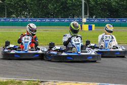 Medya/pilotlar karting yarışı: yarış heyecanı