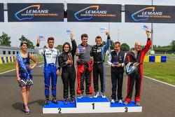 Course de Karting : Podium avec Christian Klien, Nelson Panciatici et Yannick Dalmas
