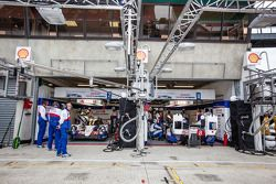 Toyota Racing pit area