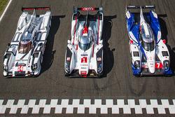#14 Porsche Team Porsche 919 Hybrid, #1 Audi Sport Team Joest Audi R18 E-Tron Quattro, #7 Toyota Racing Toyota TS 040 - Hybrid
