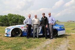 Steve Cauthen, O. Bruton Smith, Carl Edwards, Mark Simendinger