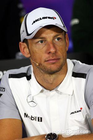 FIA-Pressekonferenz: Jenson Button, McLaren