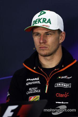 FIA-Pressekonferenz: Nico Hüulkenberg, Sahara Force India F1