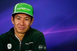 FIA-Pressekonferenz: Kamui Kobayashi, Caterham