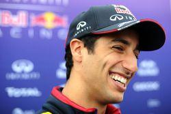 Daniel Ricciardo, Red Bull Racing, mit der Presse