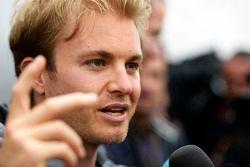 Nico Rosberg, Mercedes AMG F1, mit der Presse