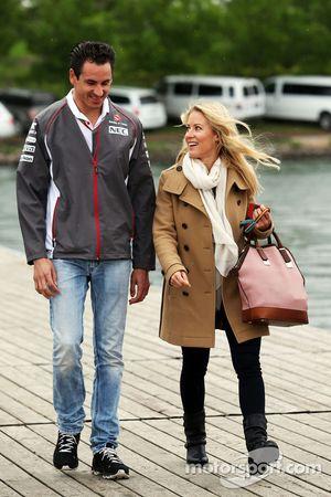 Adrian Sutil, Sauber, mit seiner Freundin Jennifer Becks